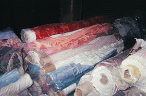Waste to Charity Fabric and Rolled Plastic Materials